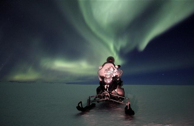 Northern Lights Snowmobile Tour – From Gullfoss